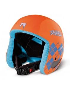 Shred Mega Brain Hjelm - Orange/Blå