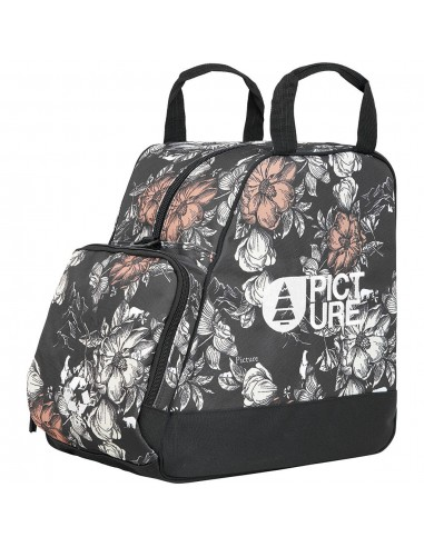 Picture Boot Bag - Peonies Black