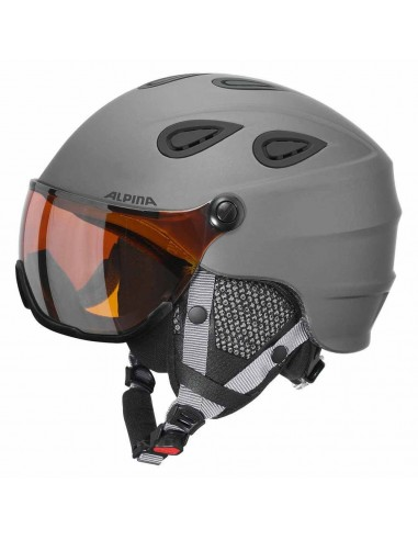 Alpina Grap visor HM skihjelm med visir - Grey matt