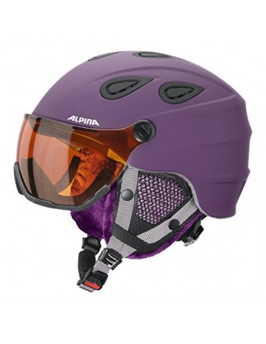Alpina Grap visor HM skihjelm med visir - Violet matt