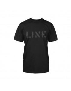 LINE STENCIL TEE BLACK